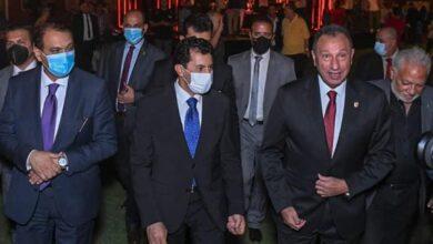 صورة وزير الشباب والرياضة يشهد احتفالية الأهلي بـتدشين النجمة العاشرة