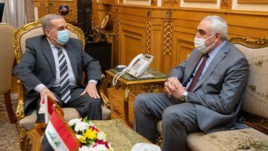 صورة وزير الدولة للإنتاج الحربي يلتقي بالسفير العراقي