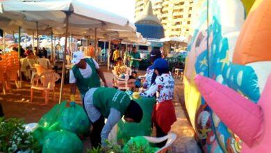 صورة احتفالا باليوم العالمى لتنظيف الشواطئ
