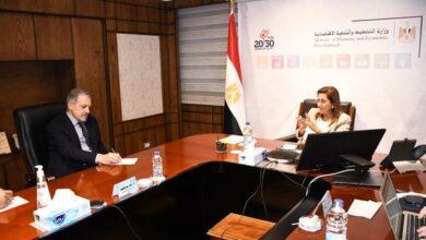 صورة وزيرة التخطيط تبحث تنفيذ تكليفات السيد رئيس الجمهورية الخاصة بتقرير التنمية البشرية في مصر 2021