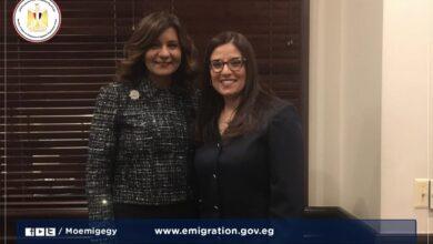 صورة وزيرة الهجرة تهنئ أول قاضية مصرية بالولايات المتحدة لفوزها بجائزة ماكلين