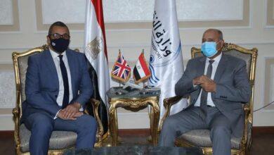 صورة وزير النقل يستقبل وزير الدولة البريطاني للشرق الأوسط وشمال إفريقيا