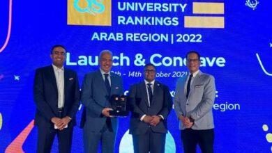 صورة تكريم جامعة الأزهر في المؤتمر الدولي لتعزيز التميز العربي في مجال التعليم العالي بدبي