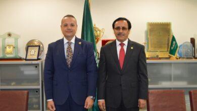 """صورة """"الأمين العام للبرلمان العربي"""" يبحث سبل التعاون مع المنظمة العربية للتنمية الإدارية"""